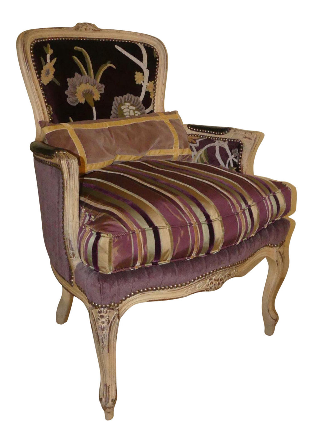Old Hickory Tannery French Bergere Chair  $1,195