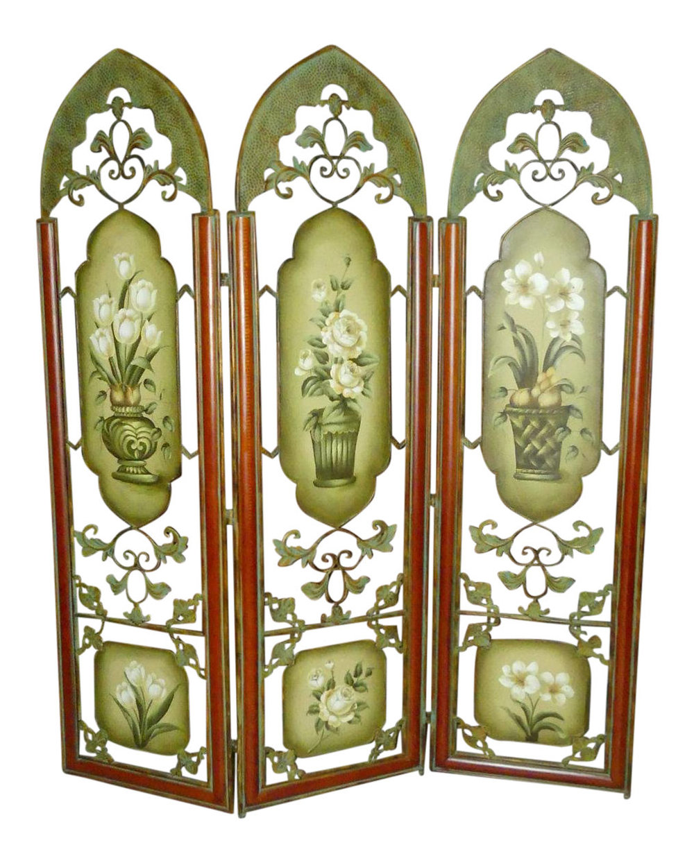 60-Inch Painted Metal Floor Screen or Room Divider    Perfect size for a queen size headboard   $750