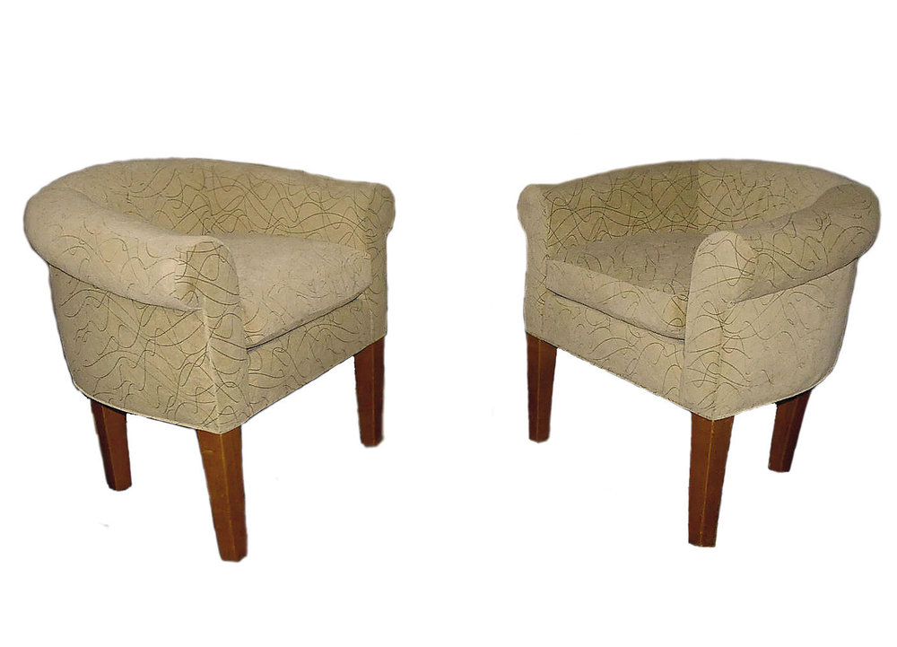 Ralph Lauren Contemporary Tub Chairs  CLEARANCE: $600