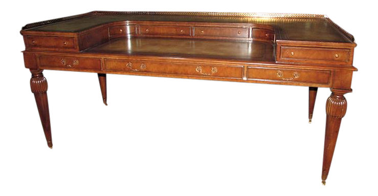 SOLD Maitland Smith Leather Top Carlton House Style Desk