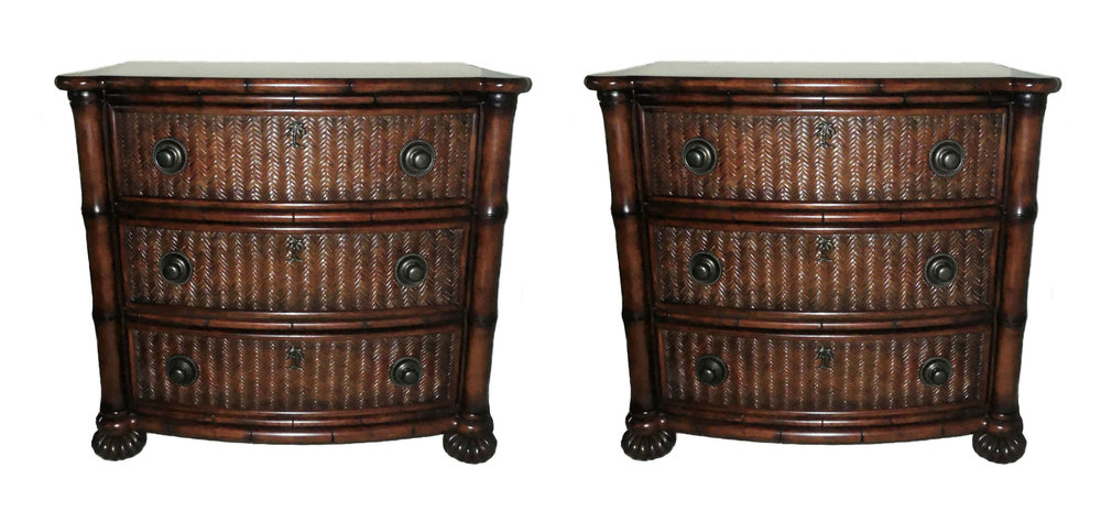 SOLD Pair of 2 Tommy Bahama Nightstands