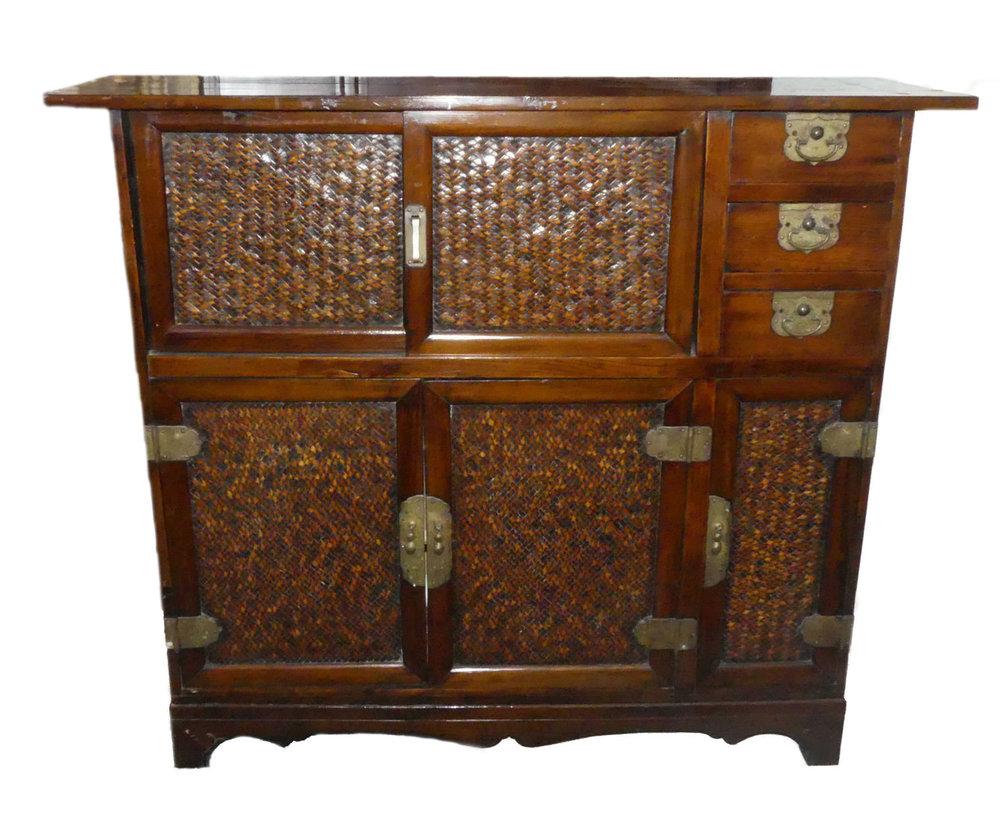 SOLD Vintage Asian Storage Cabinet