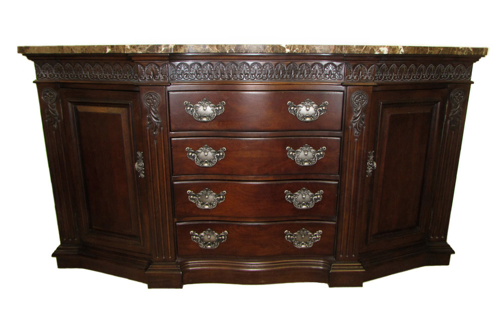 Bernhardt Marble Top Shaped Buffet or Credenza  $1,395