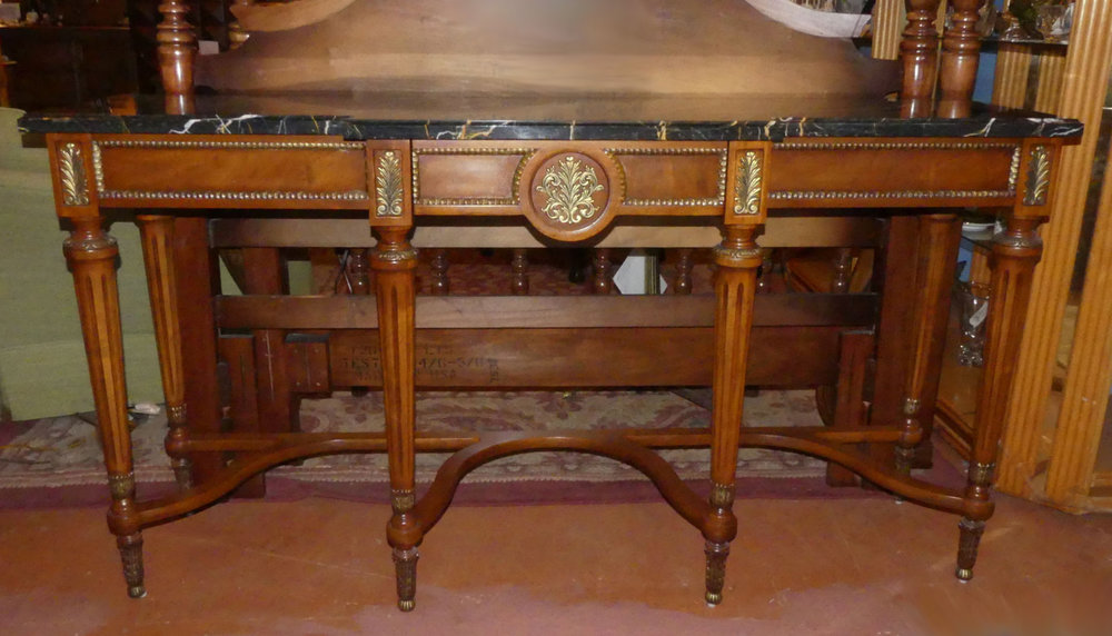 SOLD Henredon Traditional Marble Top Console Table