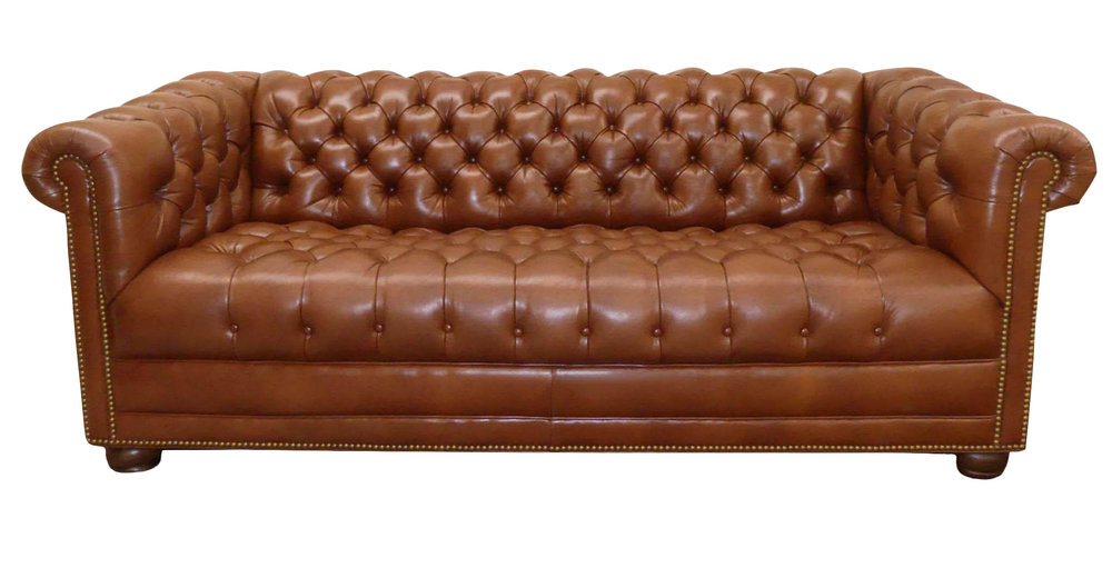 Hancock & Moore Leather Chesterfield Sofa REDUCED:  $2,200