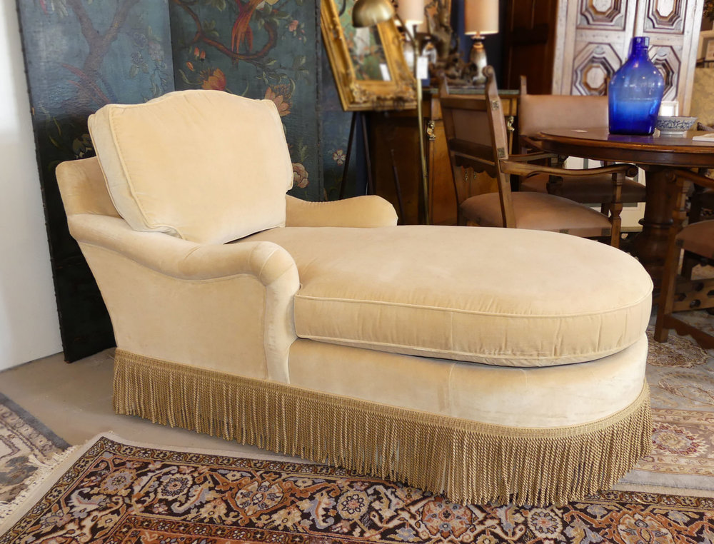 SOLD Taylor King Fringed Chaise Lounge