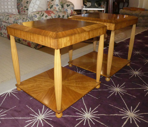 SOLD Pair of 2 William Switzer Art Deco End Tables
