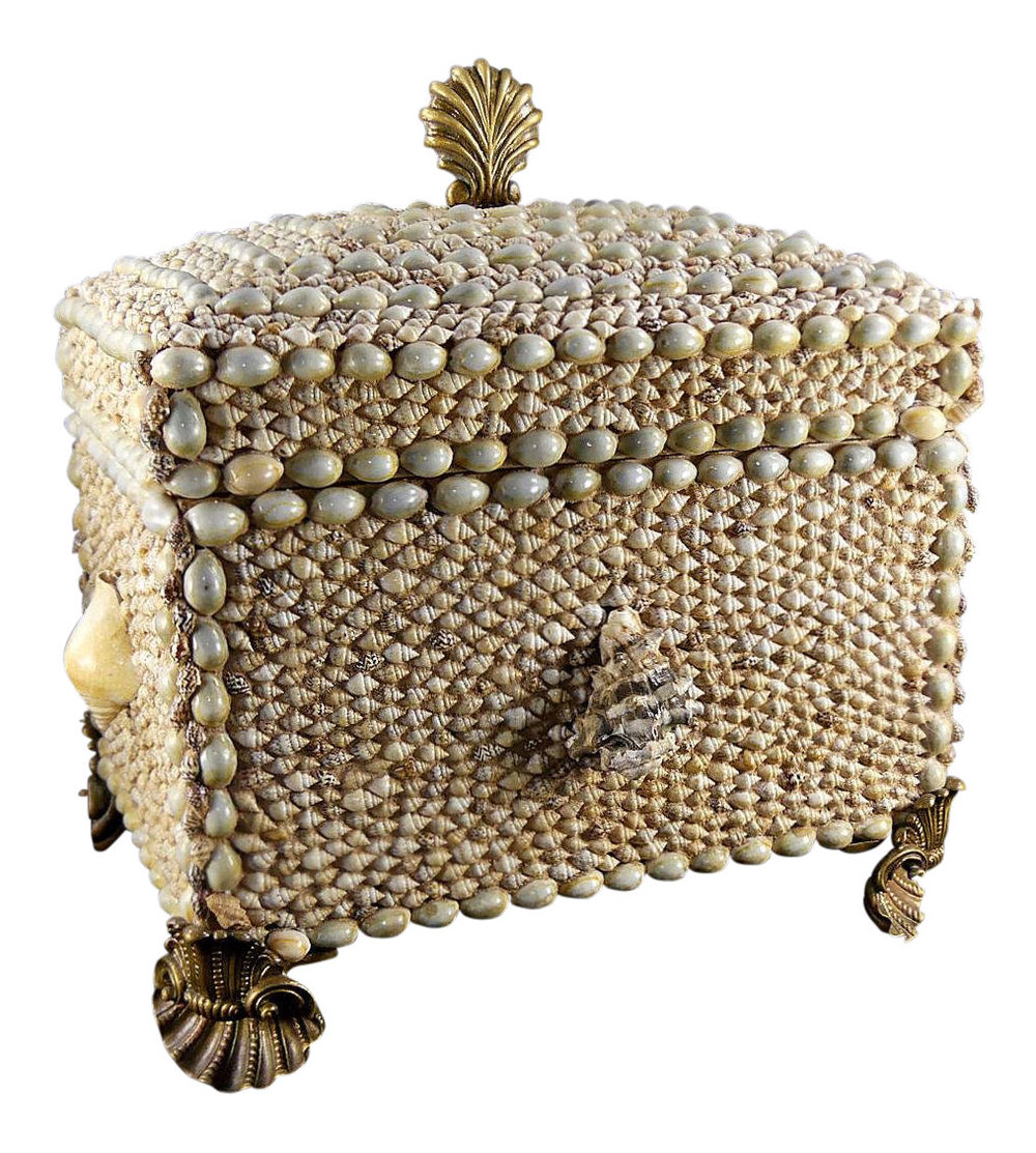 Maitland Smith Shell Encrusted Trinket Box with Brass Mounts  $1,495 (free domestic shipping)