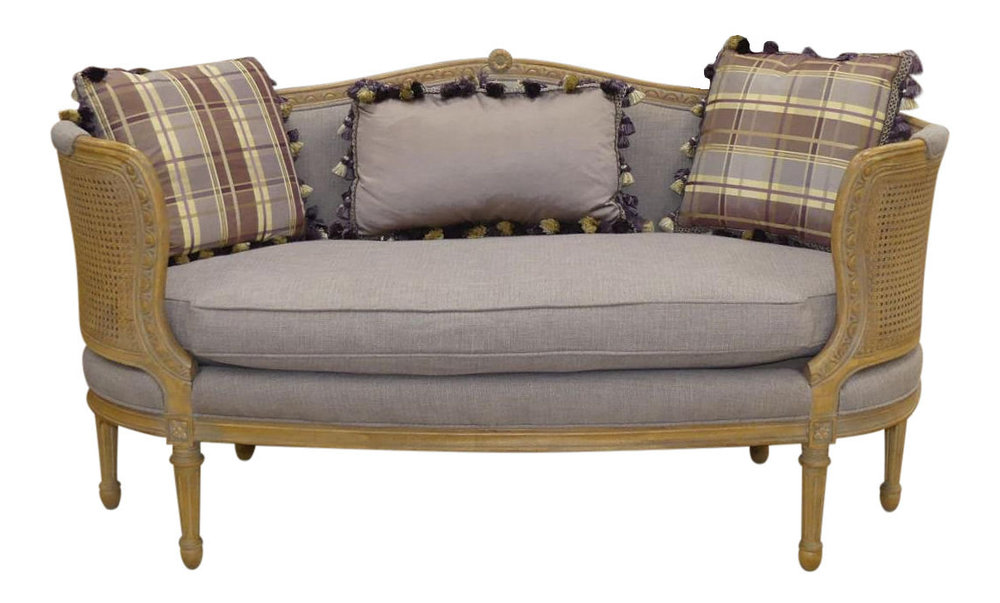 Schnadig French Louis XV Loveseat with Double Caning and Carved Details  Price: $995