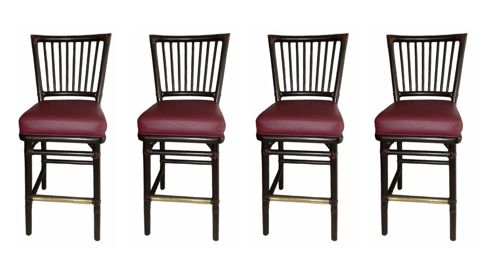 Set of 4 McGuire Prescott Bar Stools  REDUCED: $900