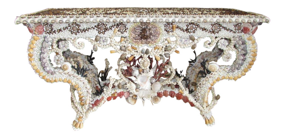 French Louis XV Seashell Encrusted Console Table   REDUCED: $5,500