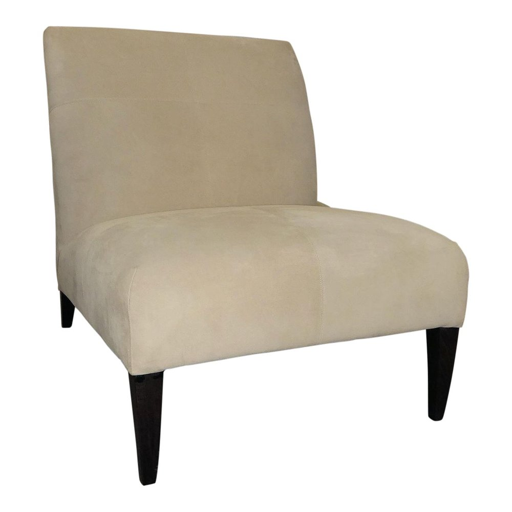 Fendi Casa Off-White Suede Slipper Chair  $895