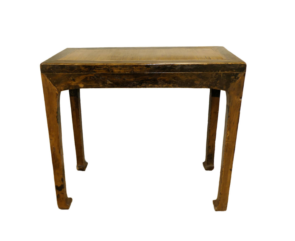 SOLD Vintage 20th Century Asian Modern Console Table with Reeded Top