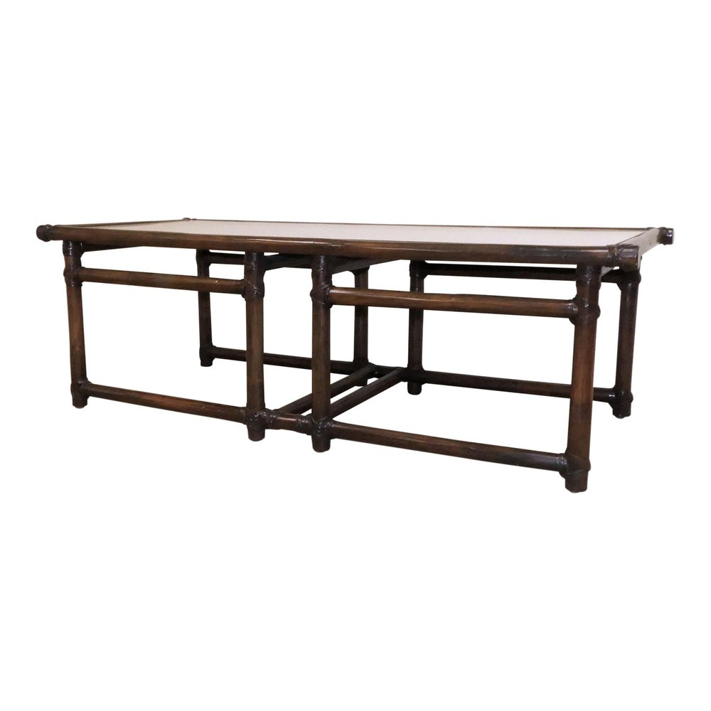 SOLD McGuire Mid-Century Bamboo Coffee Table