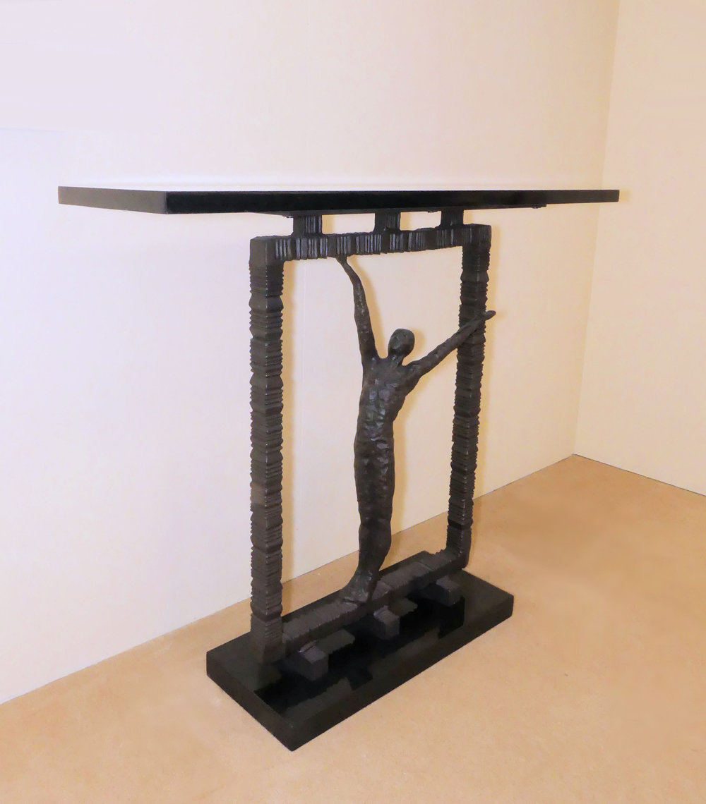 """SOLD Global Views """"Reach Out Of The Box"""" Console Table"""