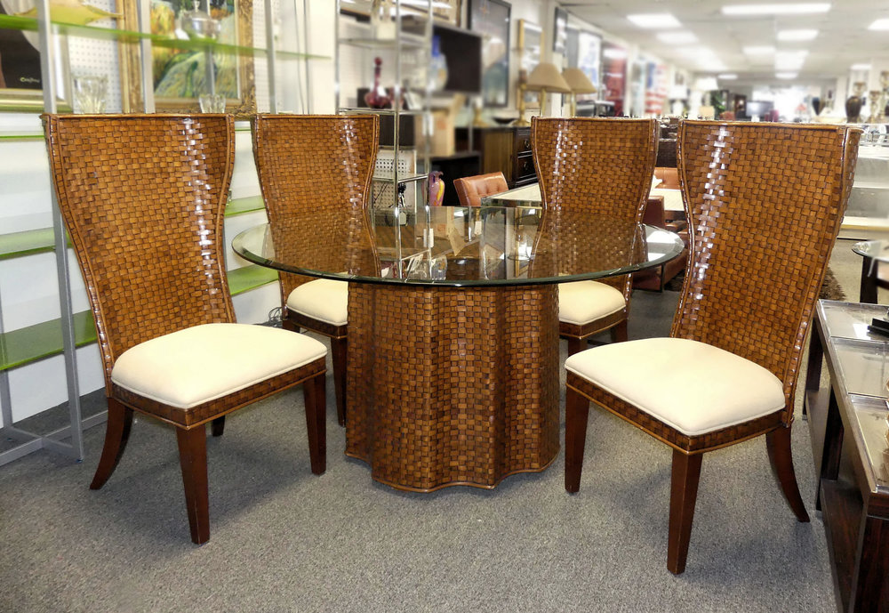 SOLD Artistica Contemporary Rattan Dining Set