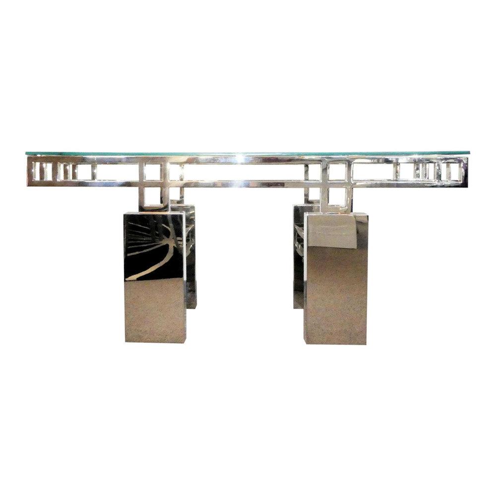 SOLD Brueton Mandarin Console Table Base or Dining Table Base