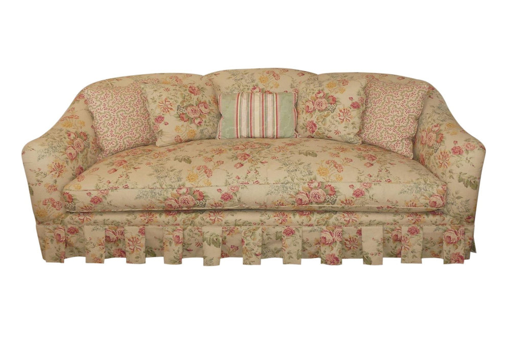 SOLD Baker Cottage Style Floral Sofa - 2 Available