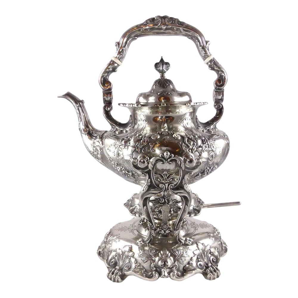 Reed & Barton Francis I Sterling Silver Kettle with Stand and Burner   Reduced: $8,995  / Compared to: $13,325