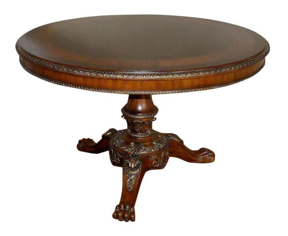 Maitland Smith Burl Inlay Center or Hall Table   REDUCED: $2,750  / Originally: $3,495
