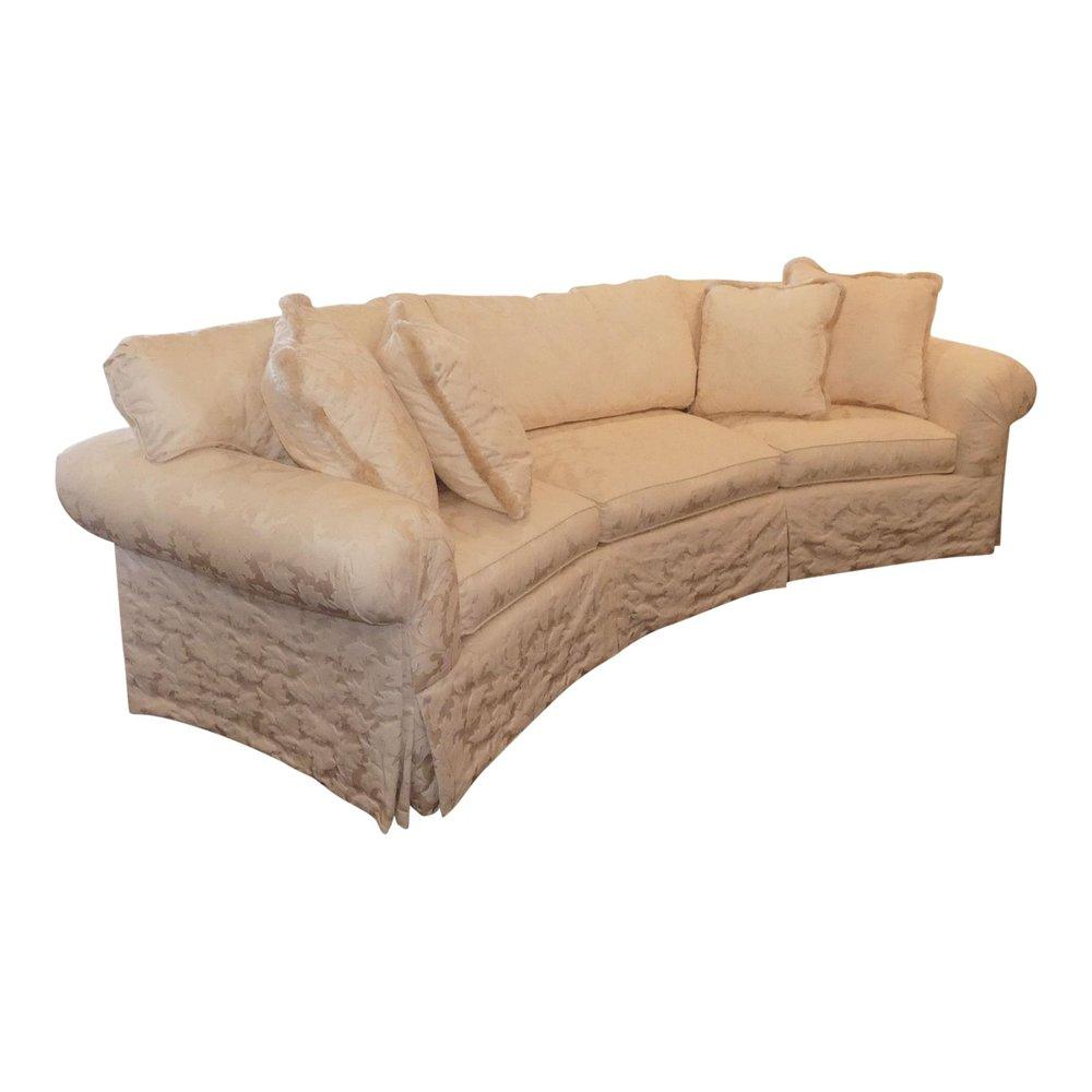 SOLD Century Furniture LT Design Curved Damask Sofa