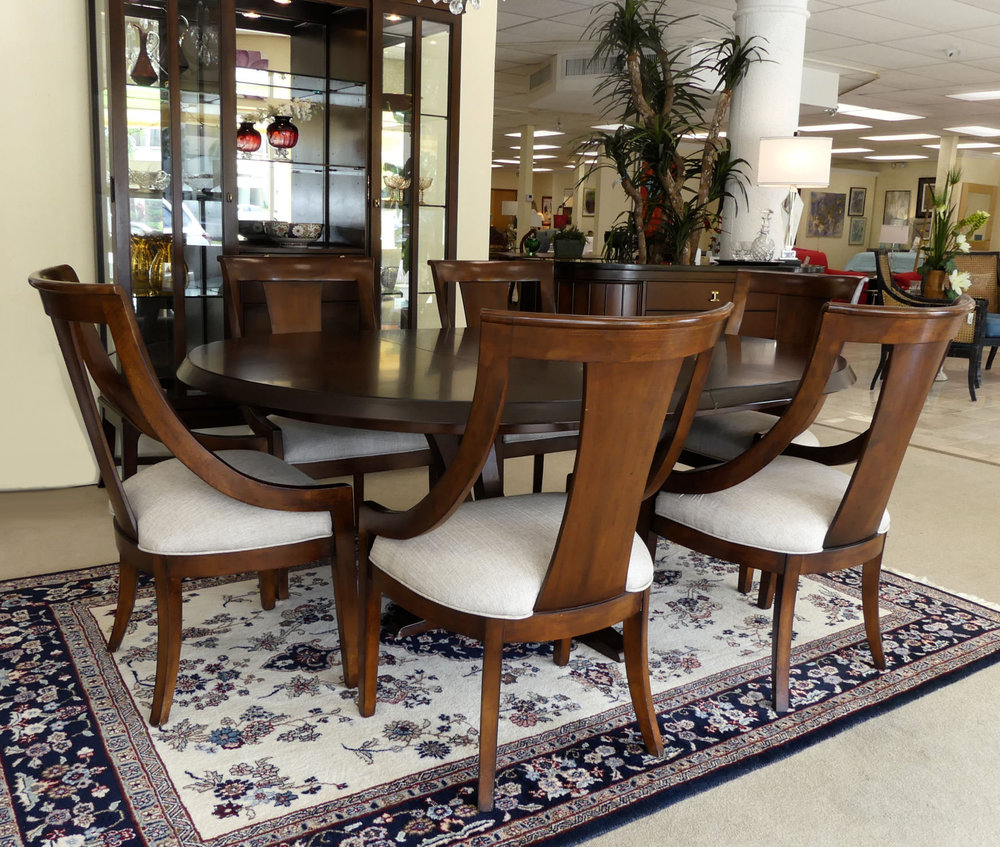 Universal Furniture Contemporary Dining Set Table, Leaf, 6 Chairs  $1,895