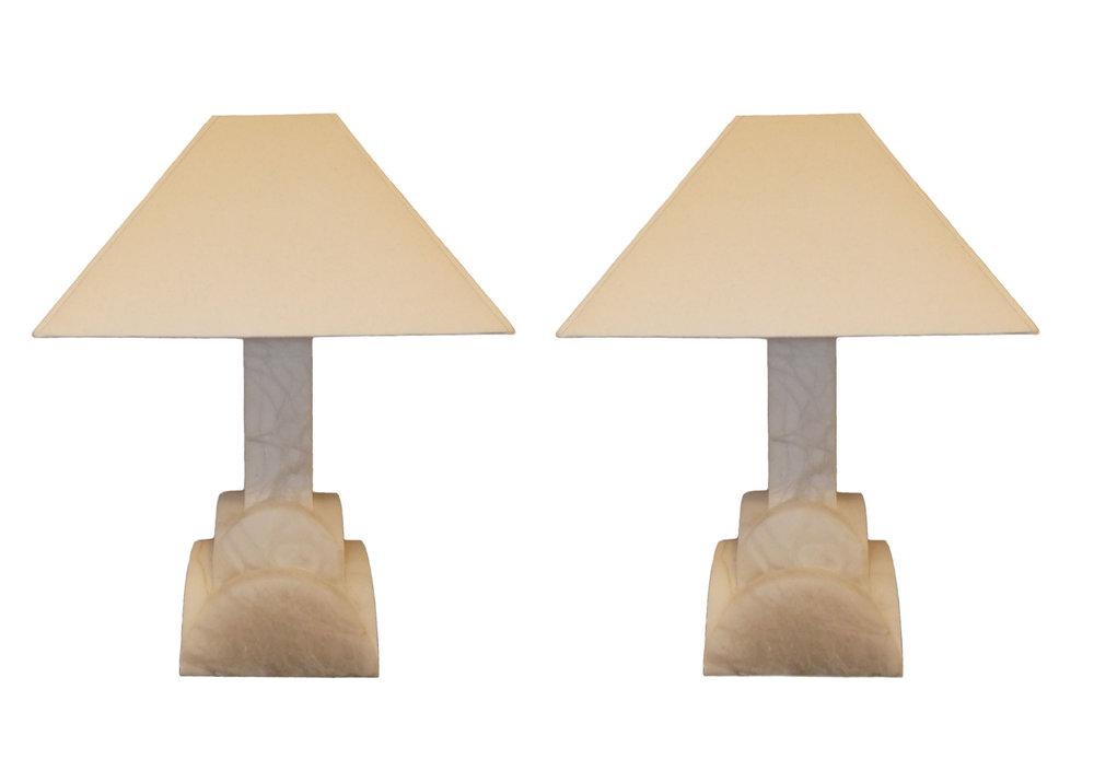 Pair of 2 Frederick Cooper Alabaster Lamps  $995