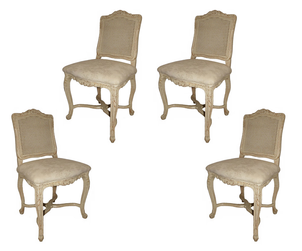 French Country Shabby Chic Dining Chairs  $995 / Set of 4