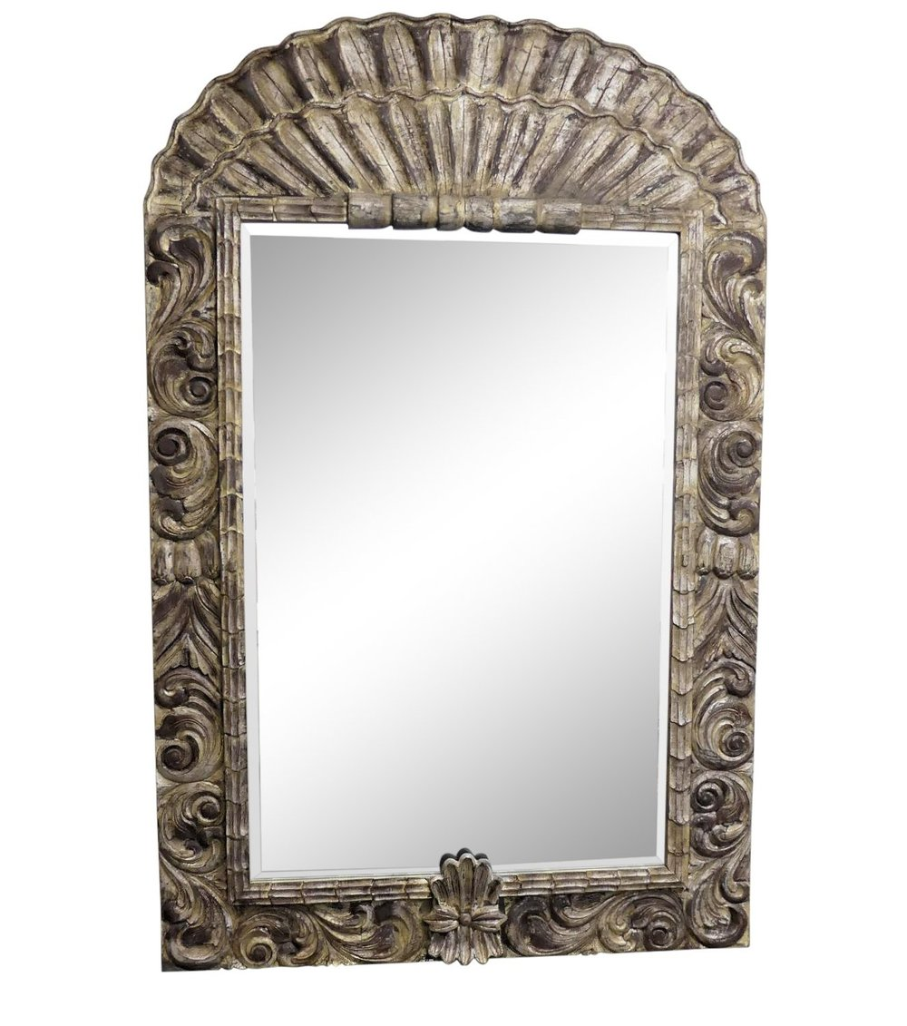 LaBarge Grand-Scale Carved Wood Mirror 54x82 $1,495