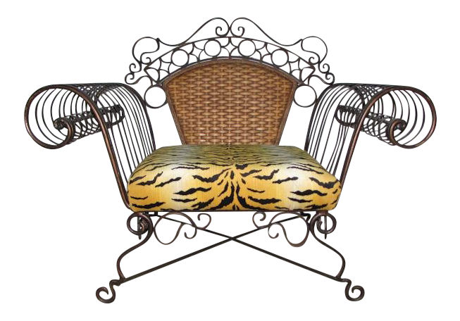 Iron & Rattan Chair - 3 Available