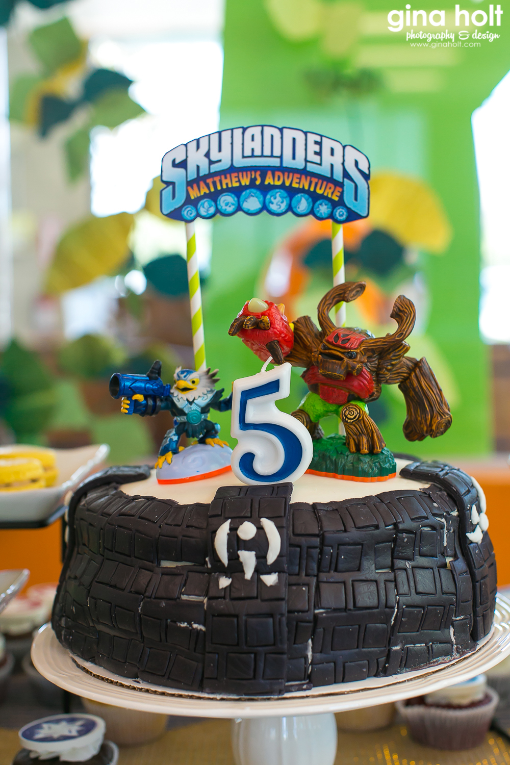 Irvine Family Photographer, Skylander Birthday Party Theme, Matthew's 5th Birthday Celebration, Playland Cafe, Orange County Birthday Party Event Photographer, Milkstashe Macarons,