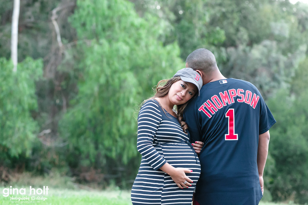 Costa Mesa Maternity Portrait Session, Los Angeles Family Photography, Orange County Maternity Photographer, Outdoor Couple  Maternity Photographer, Bohemian Inspired Maternity Session, Belly Bump, New Additions, Baby Samuel, Expecting Parents , Boston Red Sox Maternity Themed Session, Navy Blue and Red