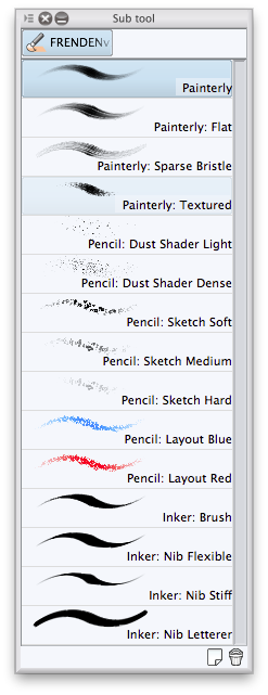 Frenden Manga Studio 5 brush presets