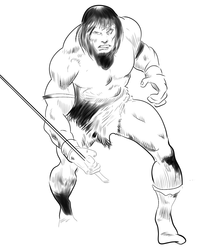 New attempt at Conan with stabilization at 50: you might (almost) believe a man can ink.