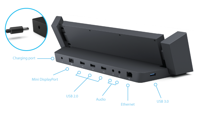 All your connection requirements should be handled with the Docking Station's generous assortment of ports.