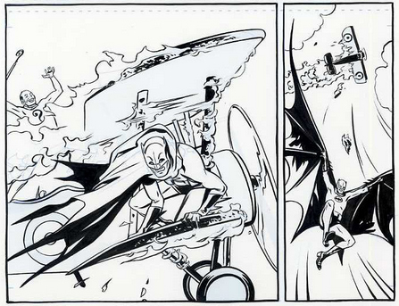 Frames from Batman 66, artwork by Jonathan Case (c) DC Comics