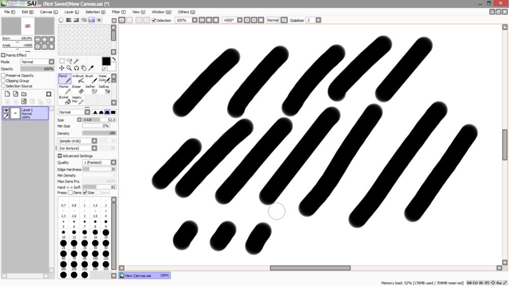 Paint Tool Sai  Pen Pressure Doesn T Work