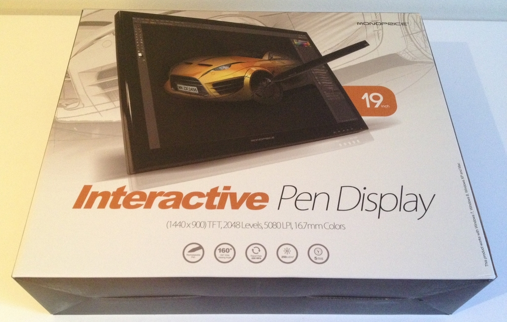 The Monoprice Interactive Display ships in an attractive box that promises a professional experience.