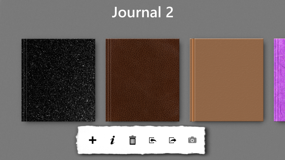 Each Sketchable project begins as a 10-page sketchbook. The are 18 default cover options currently available. The camera icon on my version is ghosted, but I assume the ability to customize covers is in the works.
