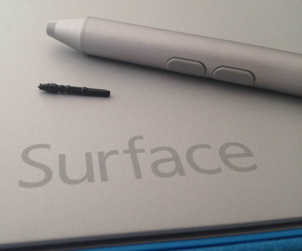 Many of the recently unboxed Surface Pro 3 pens on display at retail outlets throughout the US already show significant nib wear like mine.