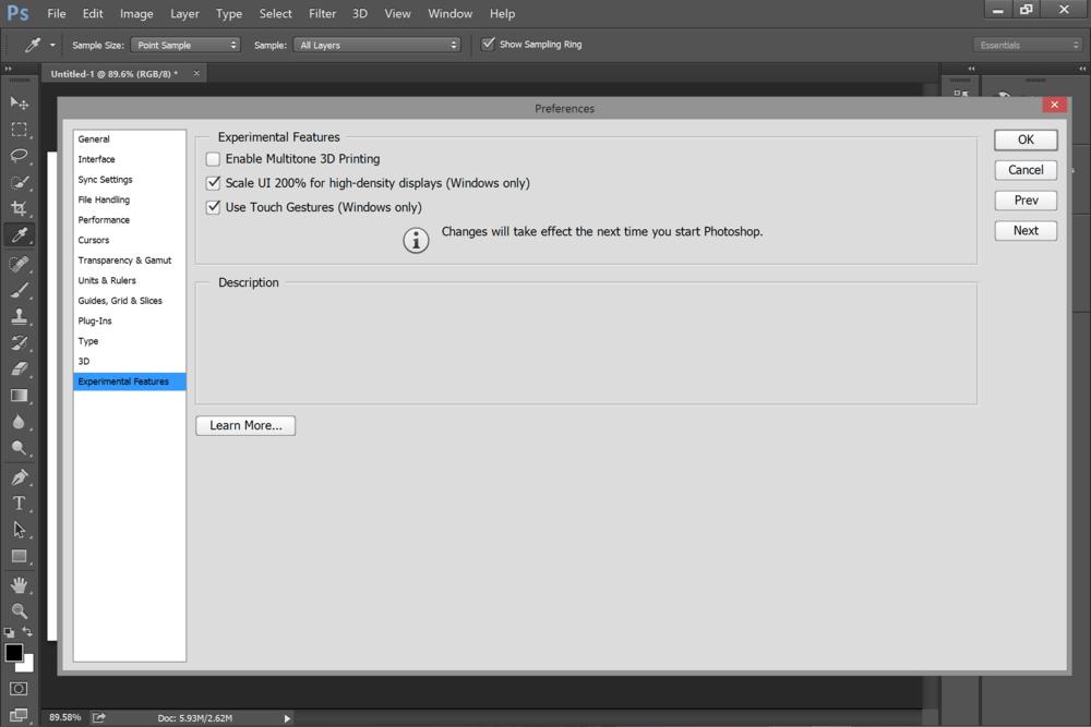 Photoshop CC 2014 touch enhancements 'experimental' — Surface Pro ...