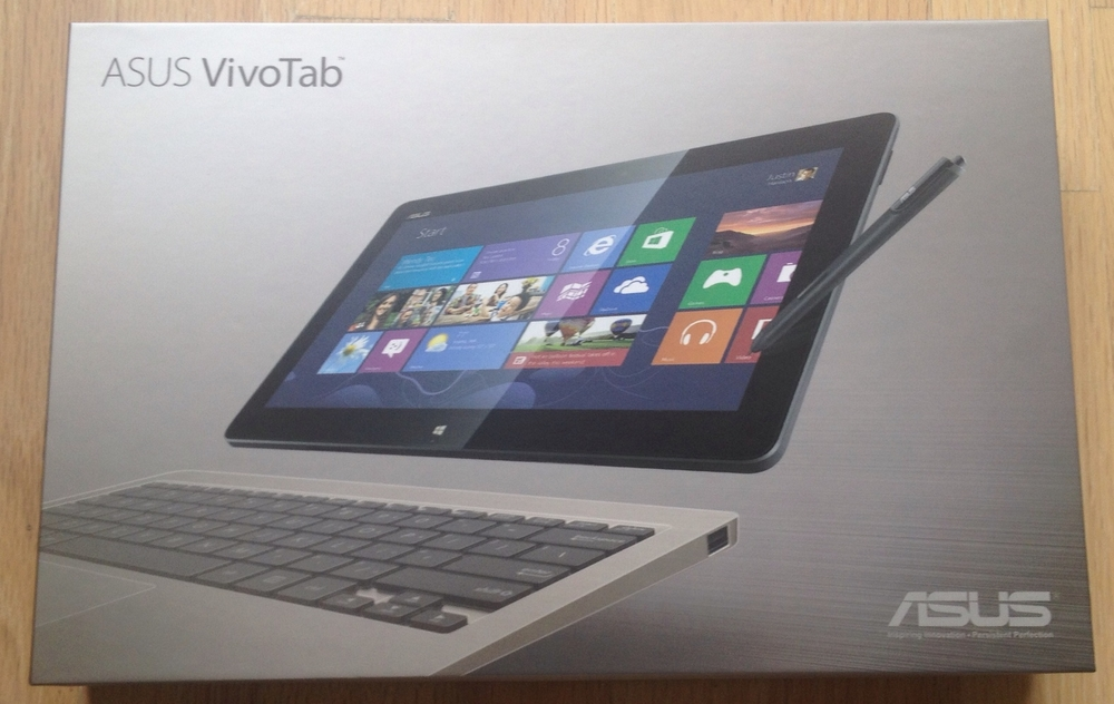 The Asus VivoTab TF810C packaging is very professional: nothing bargain basement or closeout about it.