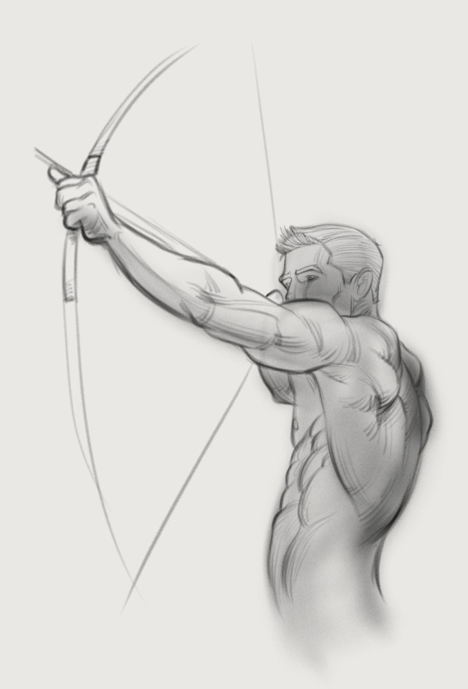 'Archer' by drawingFORCE author and instructor Michael Mattesi
