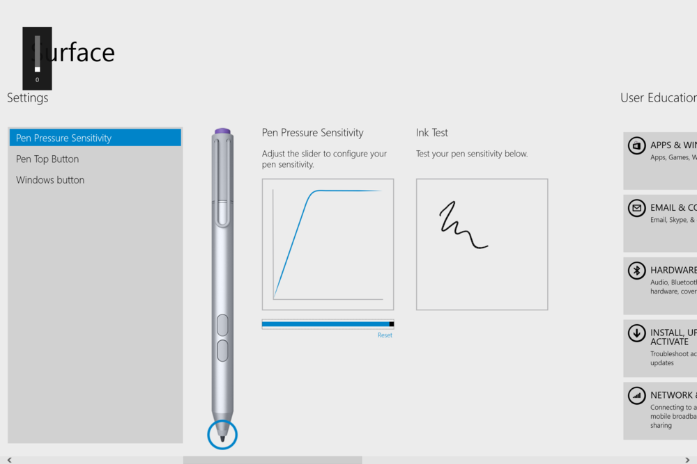 how to turn on surface pro 4 pen
