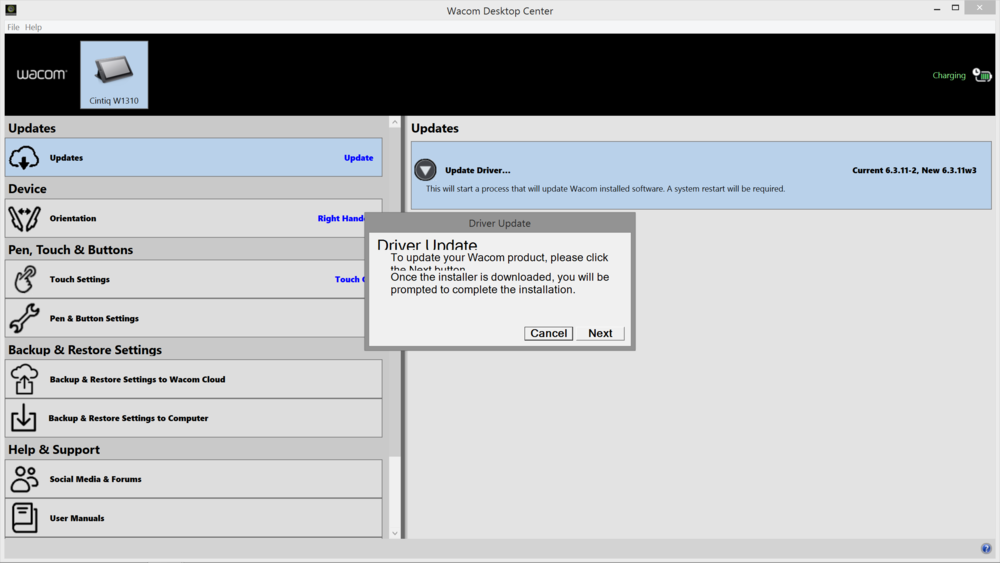 how to start wacom desktop