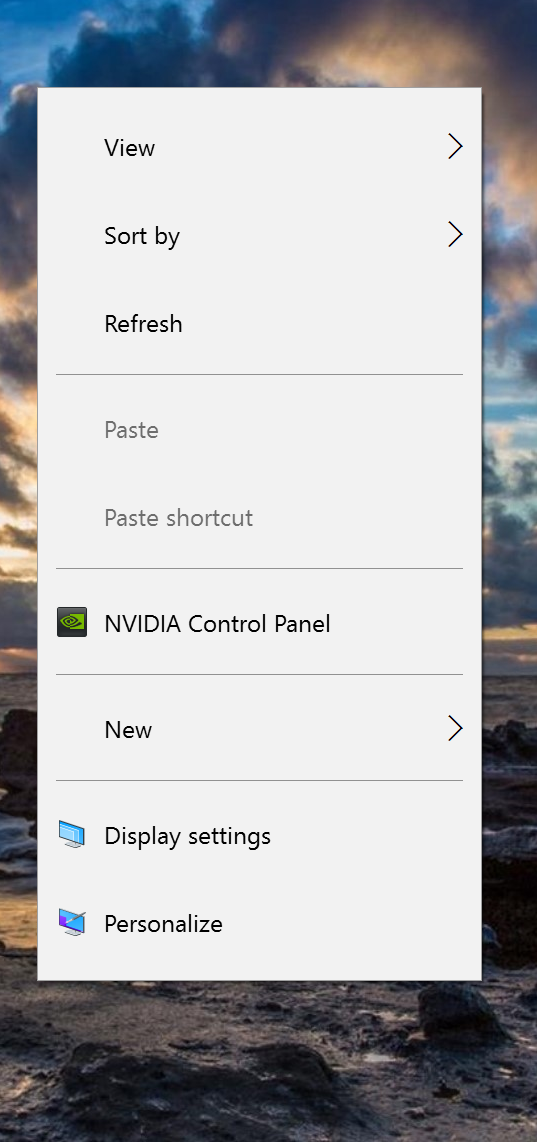 After installing the GeForce Experience, right click on the desktop to access the NVidia Control Panel.
