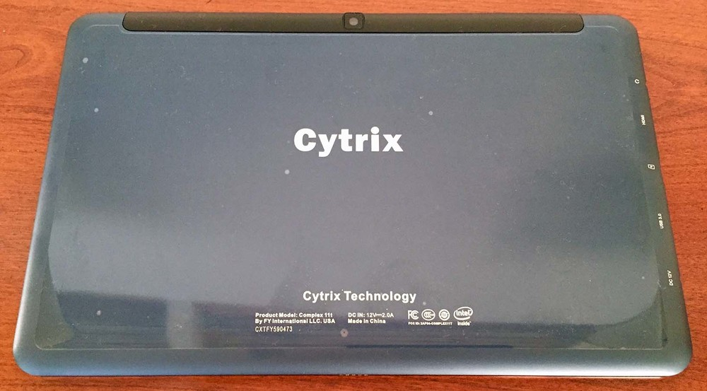 Both the box and tablet are clearly labeled Cytrix, even though the company name is now Mytrix.