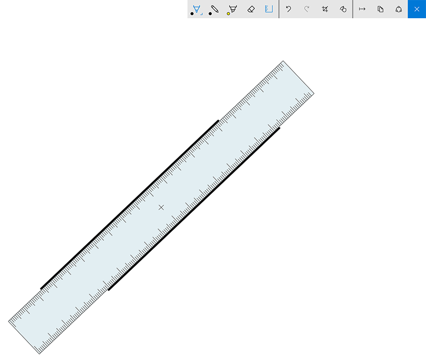 Sketchpad also features a handy on-screen ruler that can be positioned and rotated with your free hand as you sketch.