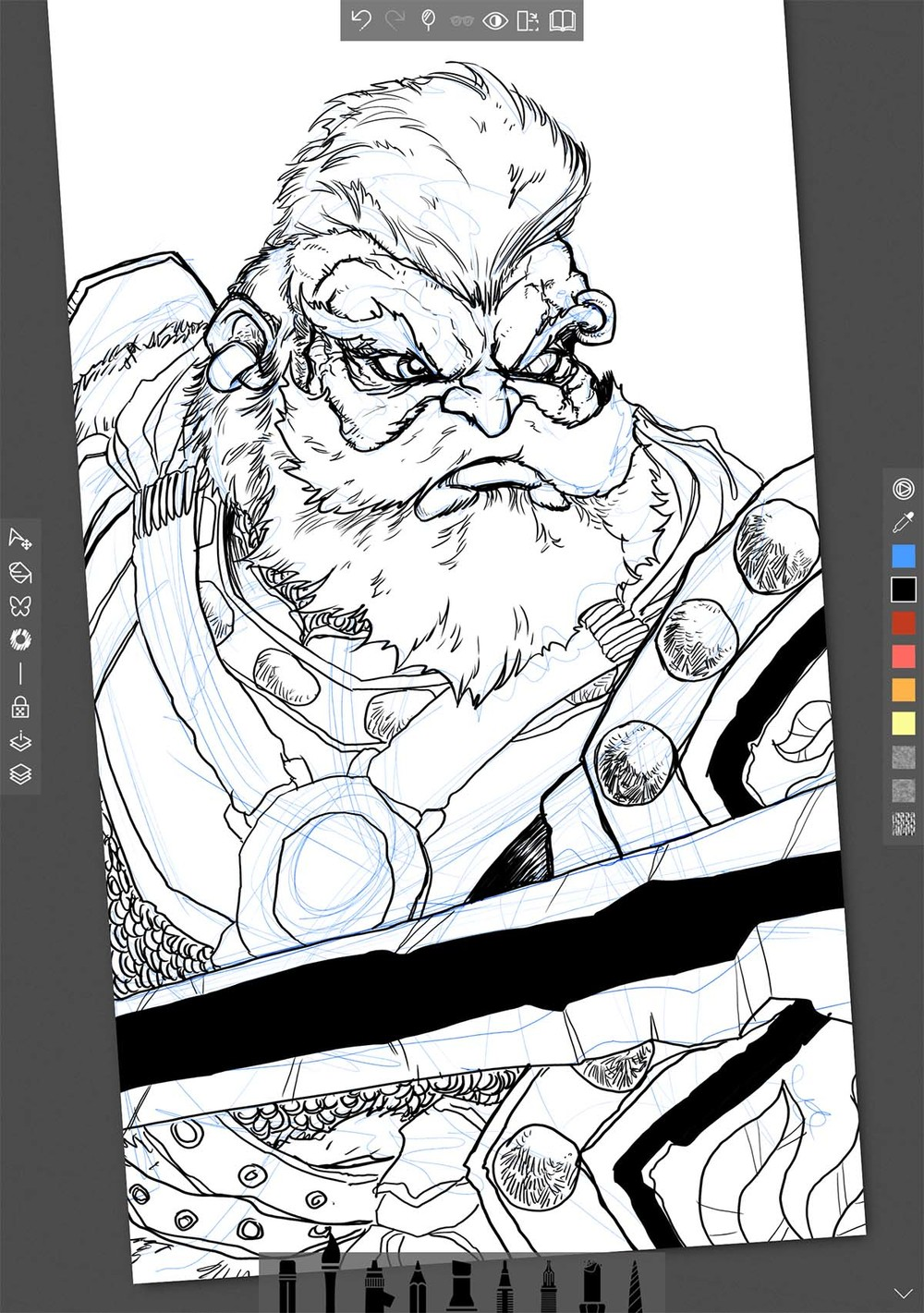 Sketchable inks and final colors by Luc Nguyen
