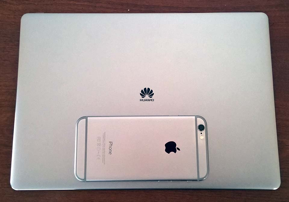 Huawei has definitely borrowed design cues from Apple.
